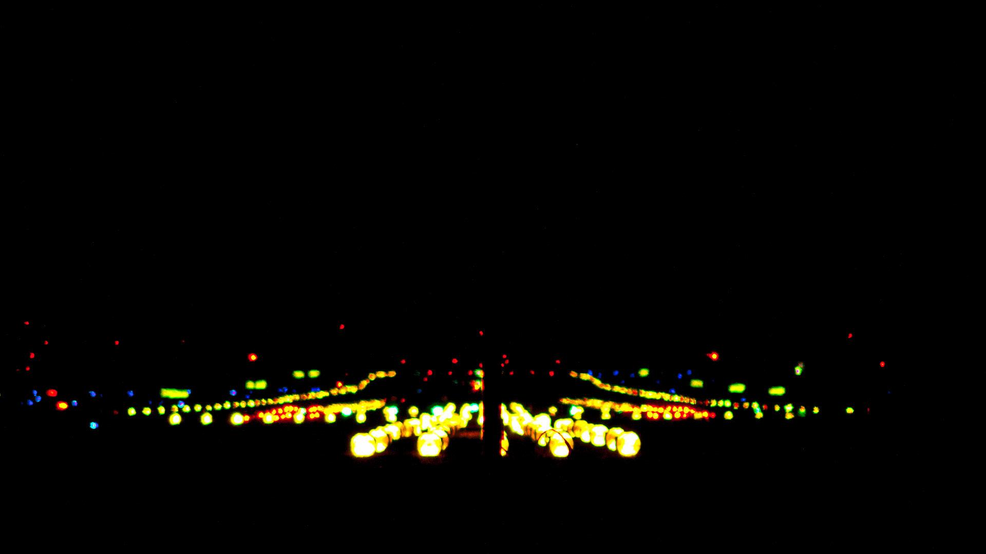 Landebahn bei Nacht